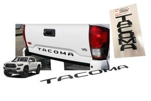 Tacoma Tailgate Insert Badge | Black