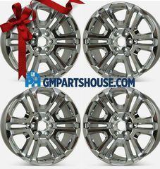 """22"""" Wheel, 6 Split-Spoke Chrome - SET OF 4 - GM 84346101 - Custom (84346101SET)"""