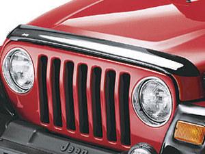 Air Deflector, Hood, Jeep Logo, Smoke - Mopar (82202160AB)