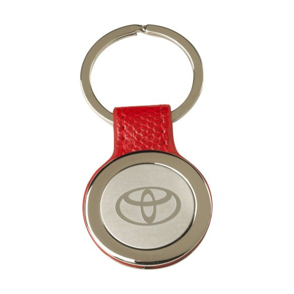 Round Mirror-etched Key Ring - Toyota (035-815-00)