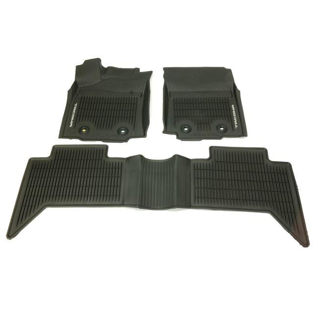 Oem New Front Rear All Weather Floor Mats Black 18 19 Tacoma D Cab Pt9083517420 Ebay