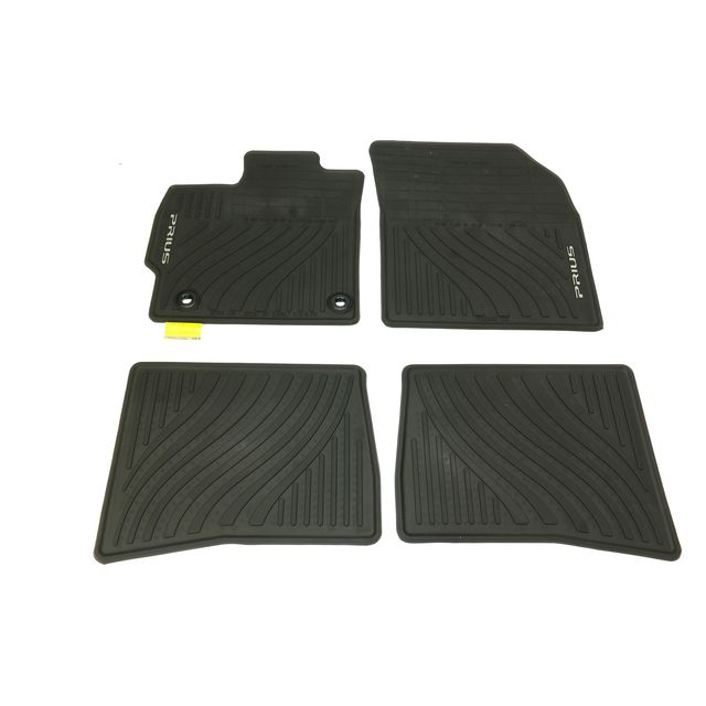 Rubber-Like Compound Custom Fit Auto Floor Mat for Select Toyota Prius Models Intro-Tech TO-768R-RT-T Hexomat Second Row 2 pc Tan