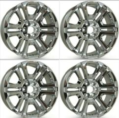 """Full Set! 22"""" Wheel, 6-Split-Spoke, Chrome x4 - GM (84346101) - GM (84346101x4)"""