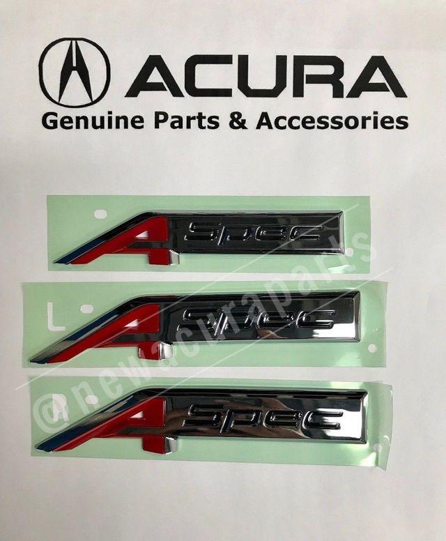 Acura A-SPEC Emblem Kit (Left, Right, Trunk) 2011189