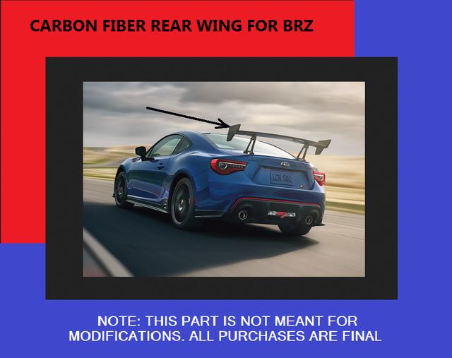 Trunk Spoiler Carbon Fiber  [ 2018 BRZ ] - Subaru (E7210CA105)
