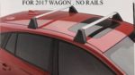 Fixed Cross Bar Set [ 2017-2020 / 5-Door Car Only ] - Subaru (E361SFL200)