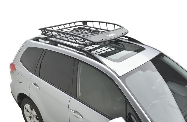Subaru Roof Basket >> 2014 2018 Subaru Thule Heavy Duty Roof Cargo Basket Cross Bars