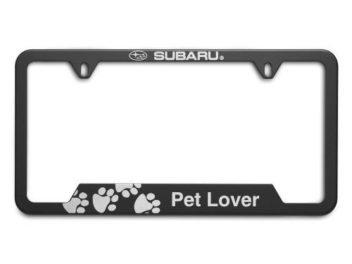 License Plate Frame Pet Lover [ Matte Black ] - Subaru (SOA342L165)