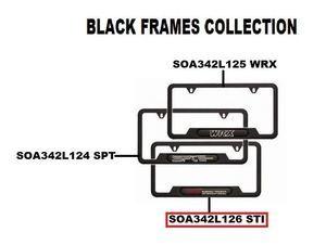 License Plate Frame, Matte Black (STI) - Subaru (SOA342L126)