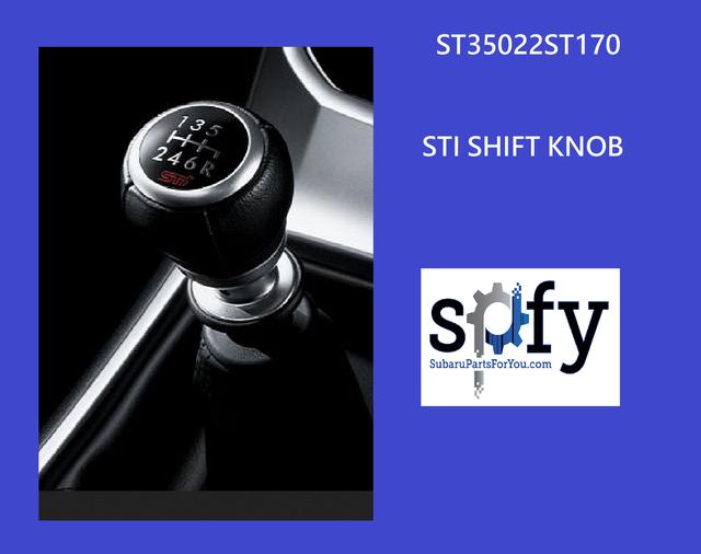 Shift Knob STI  6 MT S209 SEE DESCRIPTION - Subaru (ST35022ST170)