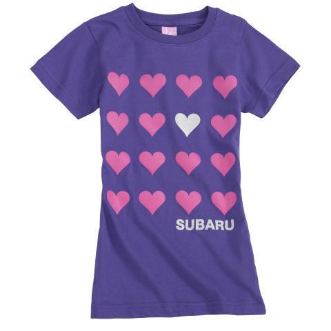 Purple Subaru Hearts Girls / CLEARANCE