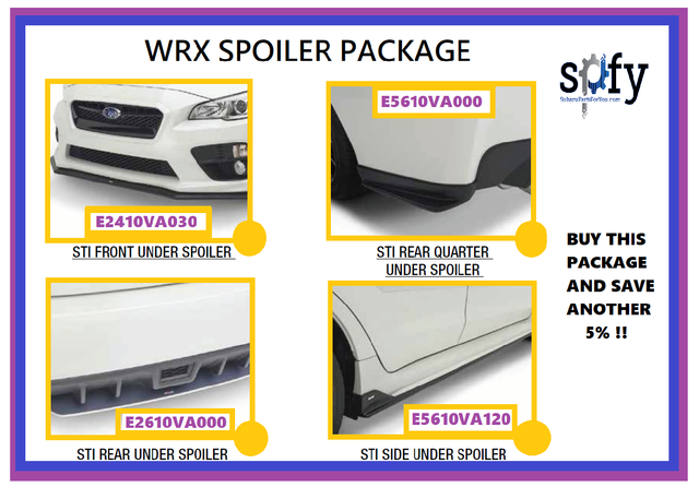 Spoiler Kit 2015 - 2020 WRX or STI ***BUY THIS  PACKAGE & SAVE EXTRA 5 % *** - Custom (WRXSPOILERPACKAGE)