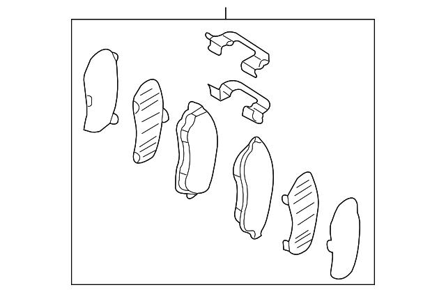 FRONT BRAKE PAD SET W/HARDWARE & SHIMS - Subaru (26296AA041)