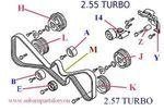 Timing Belt Kit 2004-2006 Forester XT 2.55 Turbo - Subaru (TBK04XT)