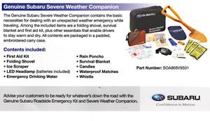 Severe Weather Companion - Subaru (SOA868V9502)