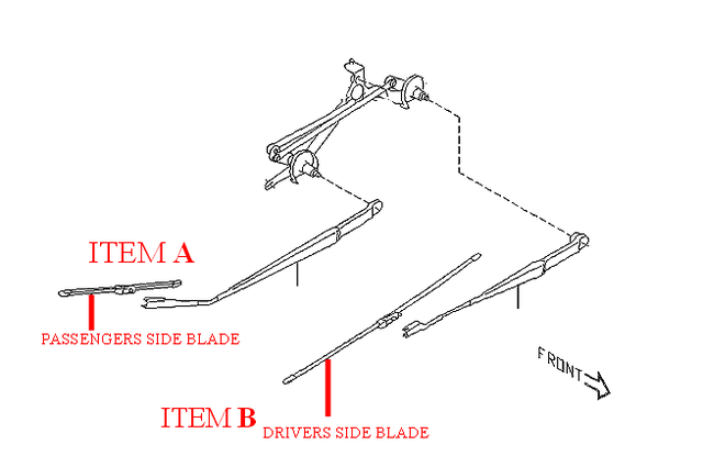 Hybrid Wiper Blade - 26 Inch - Subaru (SOA591U426)
