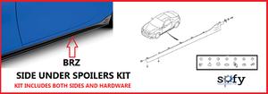 SIDE UNDER SPOILERS KIT for B R Z / w STI Logo - Subaru (E2610CA010)