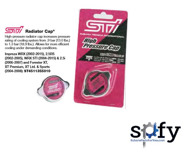 Sti Radiator Cap - Subaru (ST4511355010)