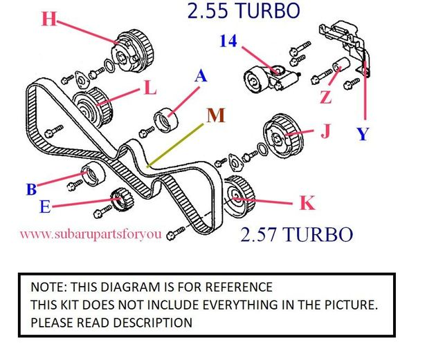 Timing Belt Kit for 2008-2014 Impreza WRX 2.55 Turbo - Custom (TBK0811WRX)