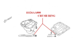Crush Gasket, Drain Plug - Subaru (11126AA000)