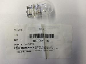 SIGNAL LAMP BULB [ Clear, Single Filament ] - Subaru (84920KE010)