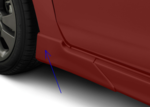 SPLASH GUARD KIT [4], FIVE-DOOR SPORT MODEL FOR NON-TURBO CAR , COLOR MATCH VENETIAN RED