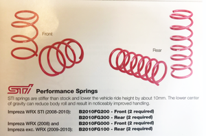 Sti Front Spring [ 2 REQUIRED ] Sold Individually - Subaru (B2010FG000)