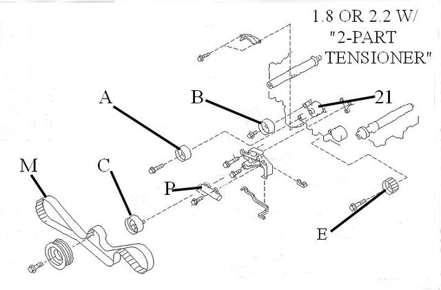Timing Belt Kit 1993-1998 Impreza 1.8 OR 2.2 - Subaru (TBK93IMP)