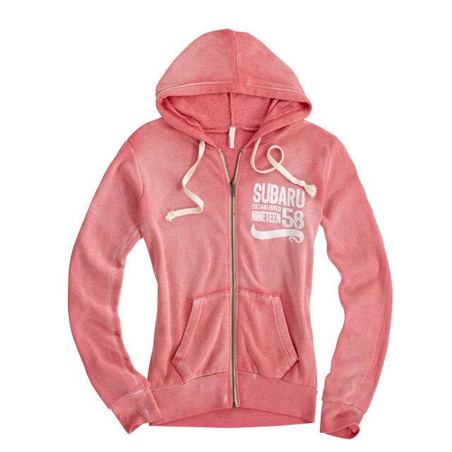 Ladies Angel Fleece Pink Hoodie [CLEARANCE]