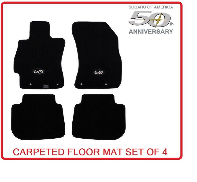 Carpeted Floor Mats - 50th Anniversary - Subaru (J501SFL800)
