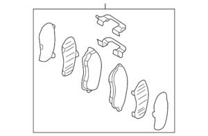 FRONT BRAKE PAD SET W/HARDWARE & SHIMS - Subaru (26296SG000)