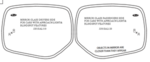 Mirror Glass Replacement Drivers Side [ For Cars with Approach Light & Blindspot Feature ]