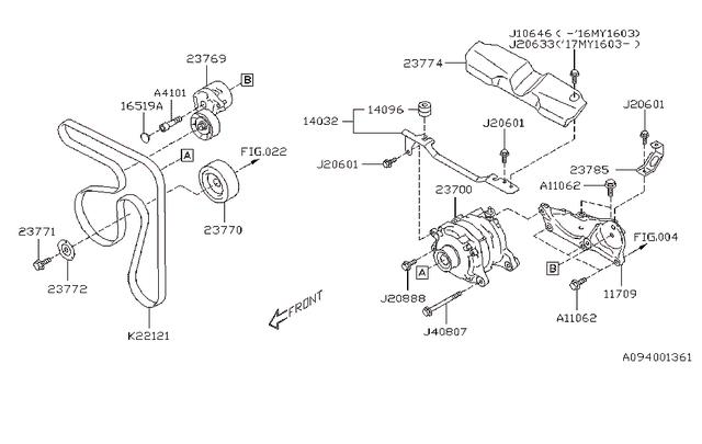 2014-2020 Subaru V- Belt, Engine [ 2014-17 Forester XT, 17 WRX ] 23780AA111  | Subaru Parts For YouSubaru Parts For You