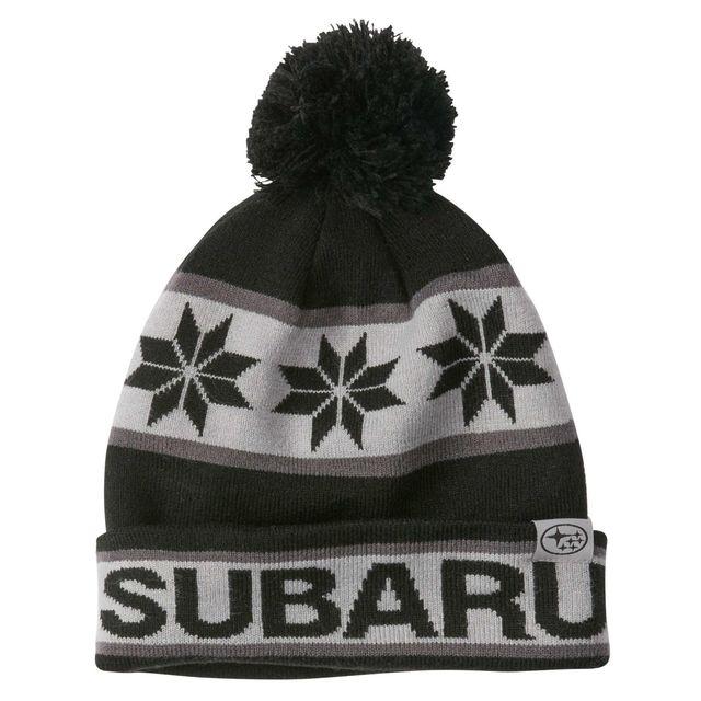 SUBARU HAT BLACK & GRAY POM POM - Subaru (GEAR296176)
