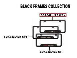 License Plate Frame, Matte Black (Wrx) - Subaru (SOA342L125)
