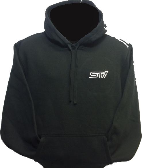 Hoody Heavyweight Black / STI Logo
