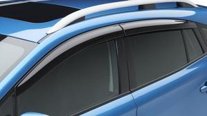 SIDE WINDOW DEFLECTOR KIT 2017-2019 IMPREZA WAGON, ALSO 2018-2019 CROSSTREK [SET OF 4] - Subaru (F0010FL030)