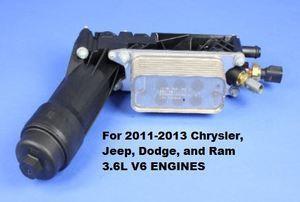 2011-2013 3.6L V6 Oil Filter Housing - Mopar (5184294AE)