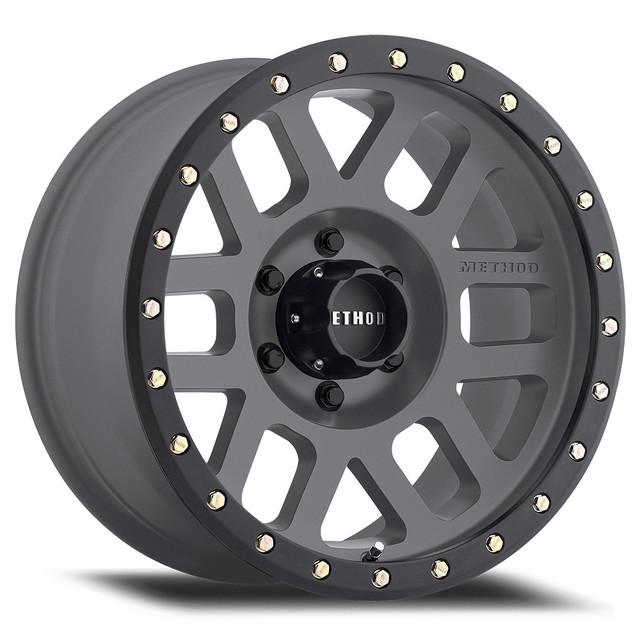 Wheel, Method Grid - 18x9 +18mm, 6x5.5 Titanium Face/Matte Black Lip - Method Race Wheels (MR30989060818)