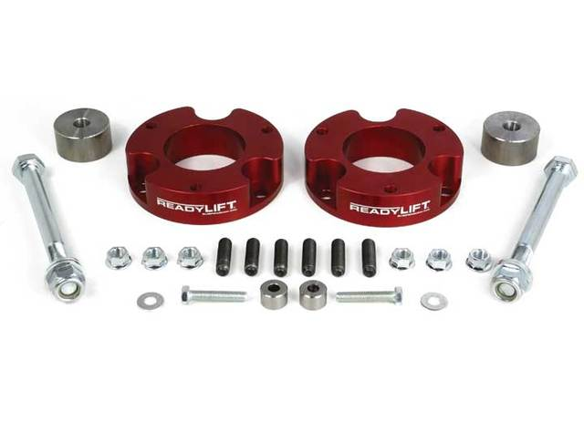 "Leveling Kit, ReadyLIFT 2.25"" Front Only T6 Billet Aluminum Red Anodized - Tacoma (2005-Current) - ReadyLIFT Suspension (T6-5055-R)"