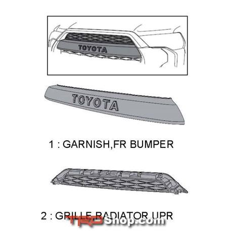 Grille Kit, TRD Pro - 4Runner (2014+) - Toyota (PZ4R-GRILLE)