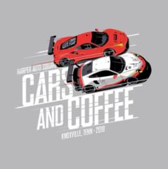 Harper Auto Square's Cars & Coffee T-Shirt 2018 designed by 8380 Laboratories. - Porsche (C-C838018)