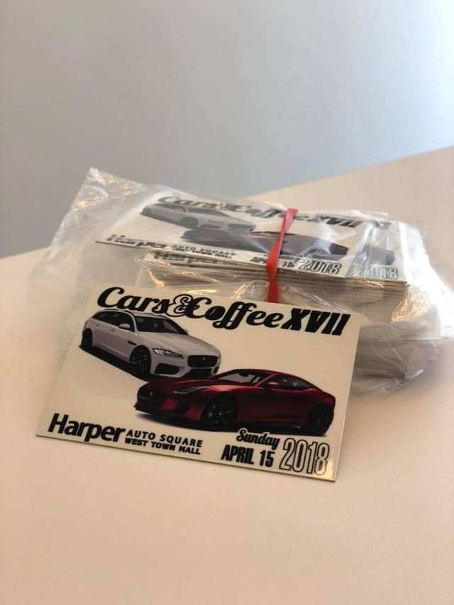 Harper Auto Square's Cars & Coffee Spring 2018 Dash Plaque - Porsche (C-CDashPlaque)