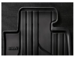 Rubber Floor Mats - Front - Black - BMW (51-47-2-153-725)