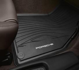 Genuine Porsche Floor Mats Rubber Blk - Porsche (981-044-800-45-1E0)