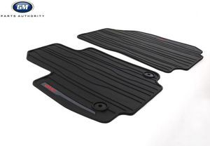 2018-2019 GMC Terrain Front All Weather Floor Mats 23323102 Black w/ Logo - GM (23323102)