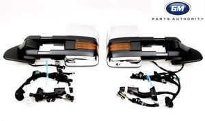 2015-2018 Silverado Sierra Chrome DQS POWER FOLD Camper Trailer Tow Mirrors - GM (84228891-84228894)