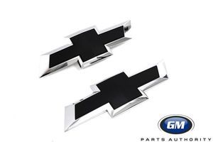 2016-2018 Chevrolet Silverado 1500 Black Bowtie Emblems 23303572 84346557 - GM (84346557)