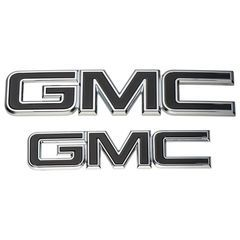 2015-2018 GMC Sierra Black Emblem Package 84395038 Front & Rear - GM (84395038)