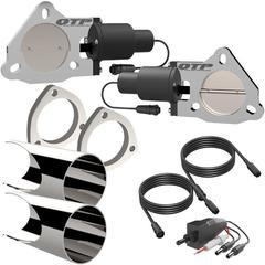 2.75 Inch Dual  QTEC Electric Cutout DIY Combo Kit Quick Time Performance - QuickTime (QTEC55DIY-GKWF)